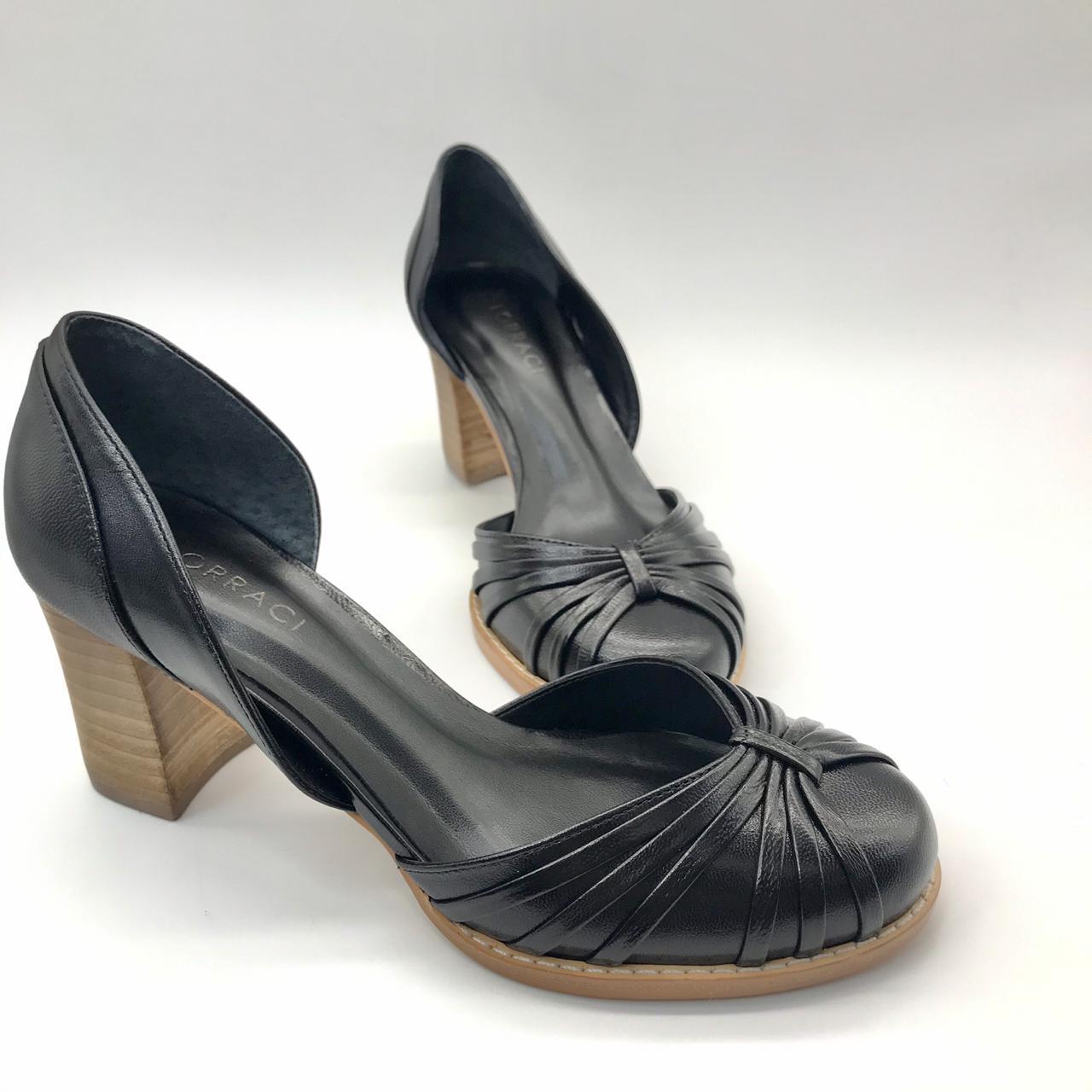 Sapato Scarpin Couro Lorraci ATM4233-V20 Pelica