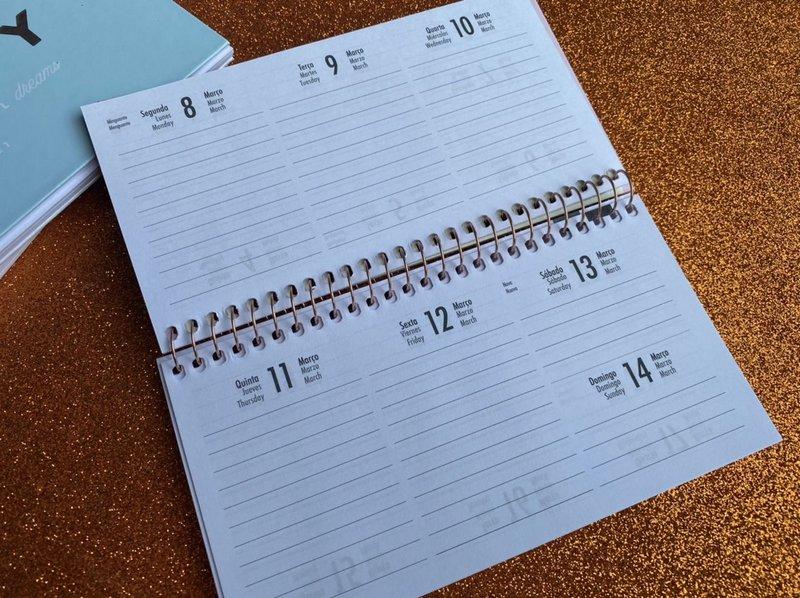 Agenda espiral semanal de bolso Happy 2021 - Tilibra