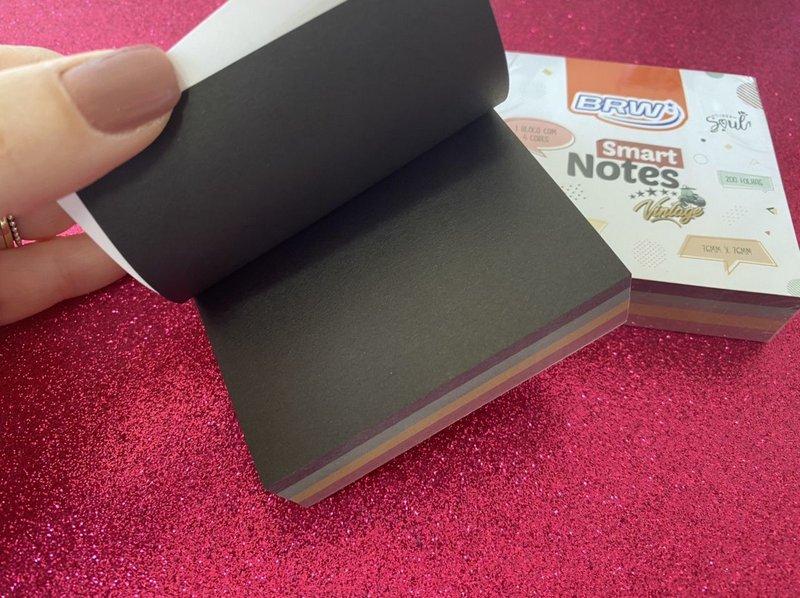 Bloco Adesivo BRW cores escuras - 200 folhas