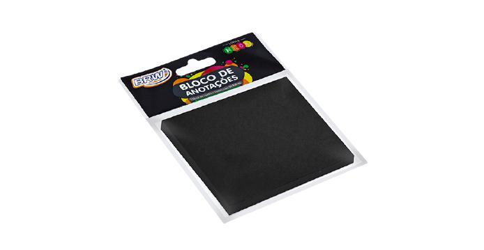 Bloco adesivo PRETO com 50 folhas - BRW