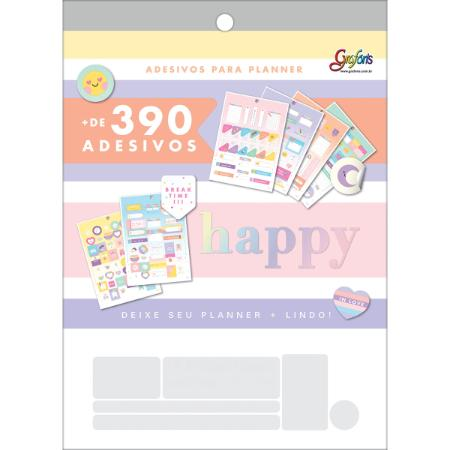 Bloco de Adesivos - Tilibra - 390+ Adesivos Happy
