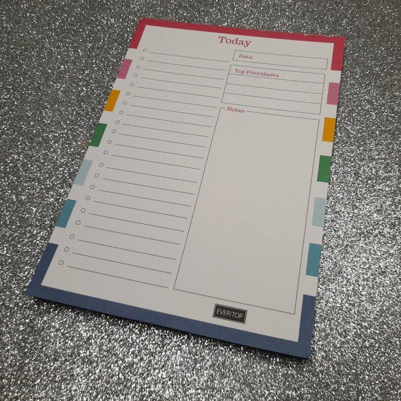Bloco de notas Evertop today colors A5