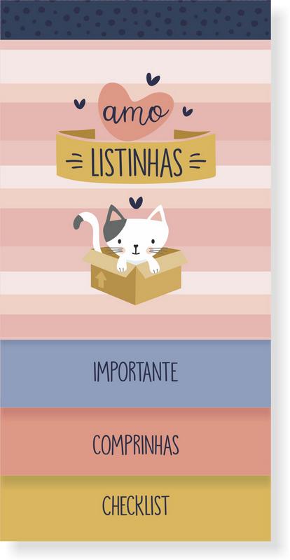 Bloco Listas Cats Cartões Gigantes