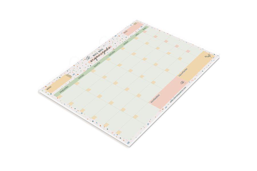 Bloco Mensal Confete Grande Cartões Gigantes