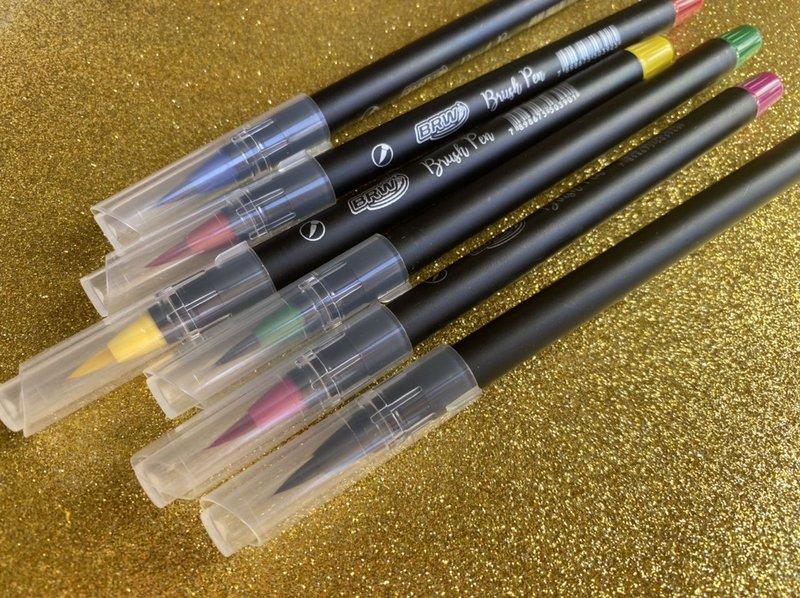 Brush Pen de cerdas BRW - avulso