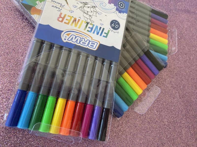 BRW Fineliner - Estojo com 10 cores