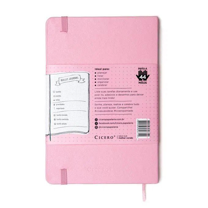 Caderneta Clássica 14x21 Rosa Pastel - Pontada - Cícero