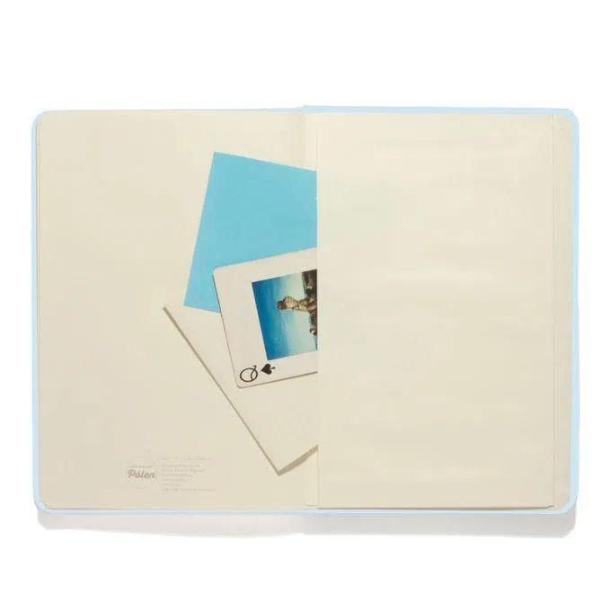 Caderneta Clássica 9x13 - Azul Pastel - Sem Pauta - Cícero
