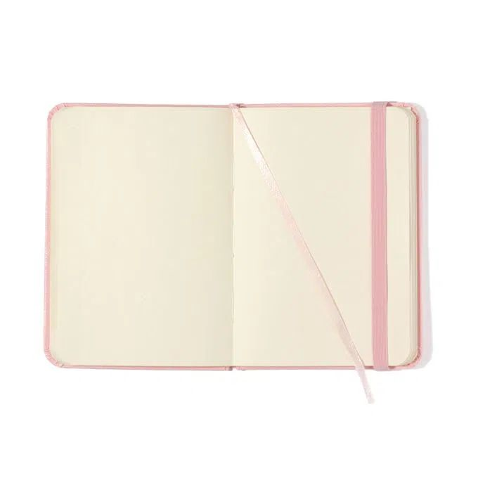 Caderneta Clássica 9x13 - Rosa Pastel - Sem Pauta
