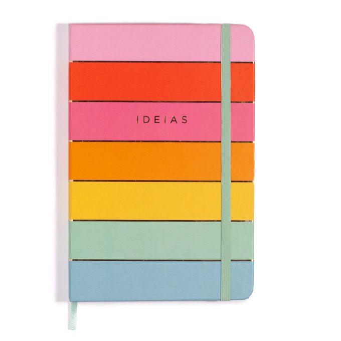 Caderneta Ideias todas Juntas 14x21 - arco iris - pontado - Cícero