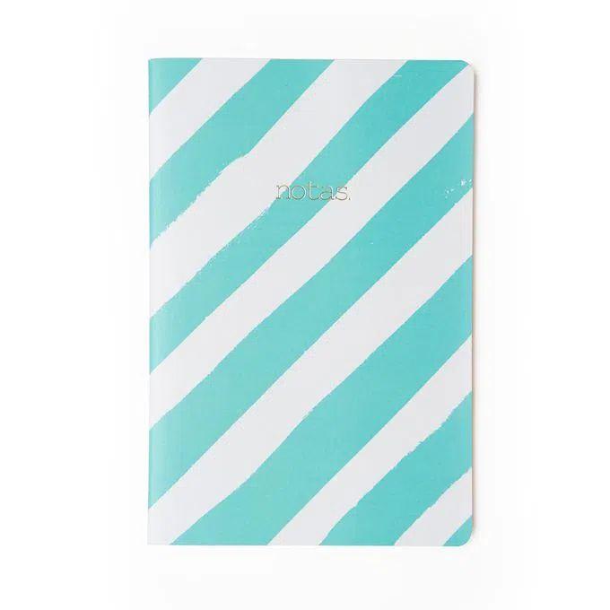 Caderneta Meu Pequeno Cicero Pastel 14x21 Azul Listrado - Sem Pauta