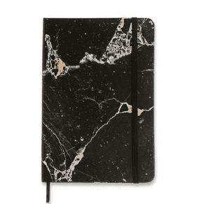 Caderneta Pautada Mármore Preto Minerais 14x21 - Cícero