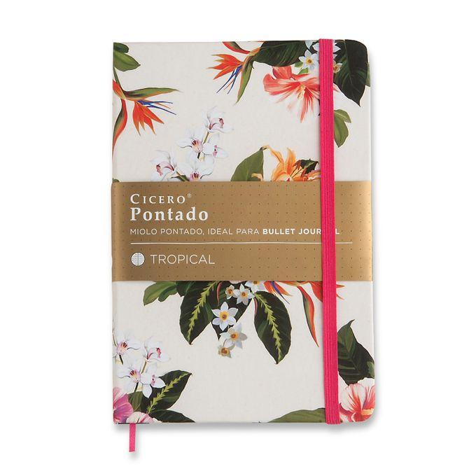 Caderneta Pontada Flora Tropical - 14x21 - Cícero