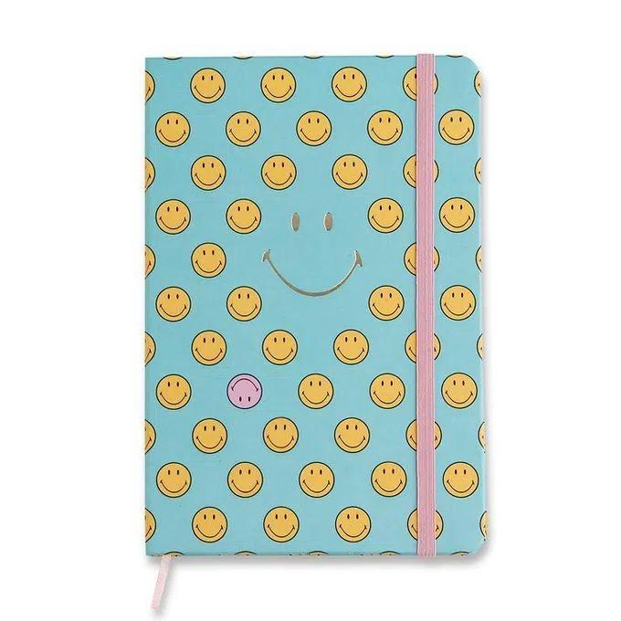 Caderneta Smiley Azul - 14X21 - pontado