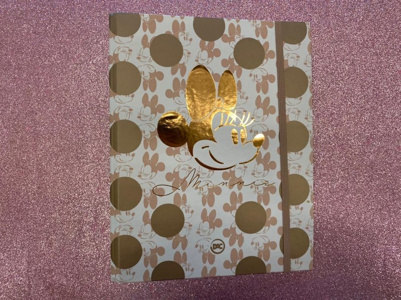Caderno Argolado Colegial - DAC - Minnie Mouse