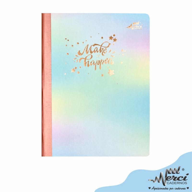 Caderno Colegial Brochura Merci Make It Happen