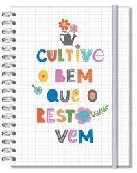 Caderno Colegial - Fina Ideia - Frases Coloridas 96 Folhas