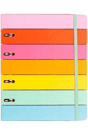 Caderno Criativo Argolado - Arco-Íris - Pautado - 17x24 - Cícero