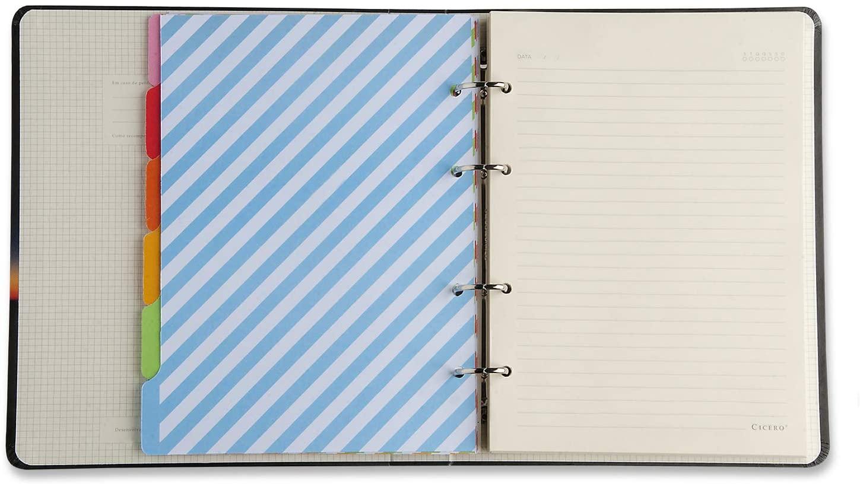 Caderno Criativo Argolado - Azul Pastel - Pautado - 17x24 - Cícero