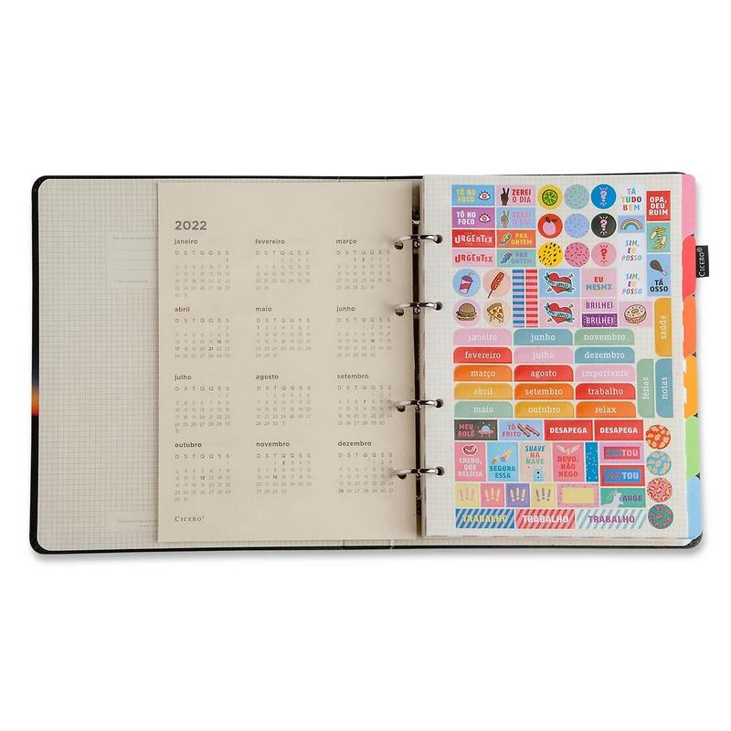 Caderno Criativo Argolado Degradê Neon - Pantone - 17x24 - Cícero
