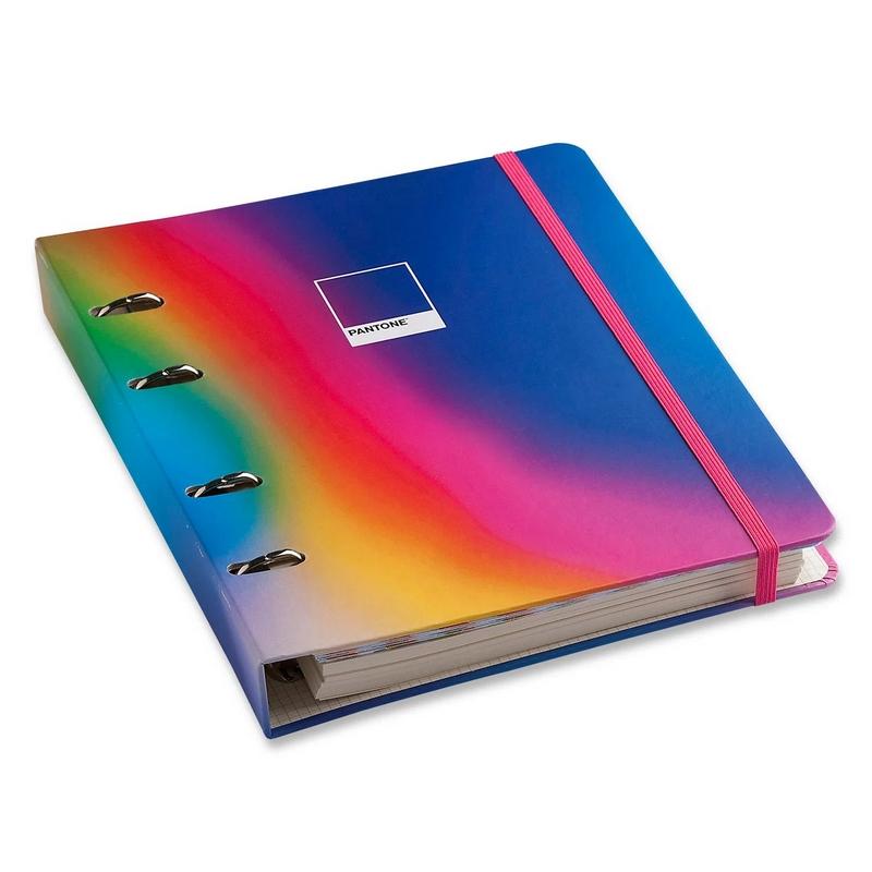 Caderno Criativo Argolado Pantone - Cícero - Degradê Neon 17x24