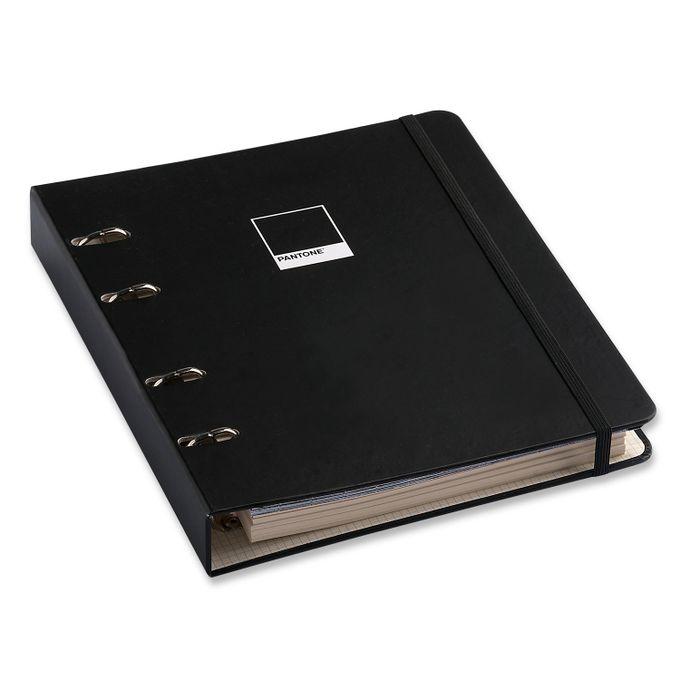 Caderno Criativo Argolado - Preto - Pantone - Pautado - 17x24 - Cícero