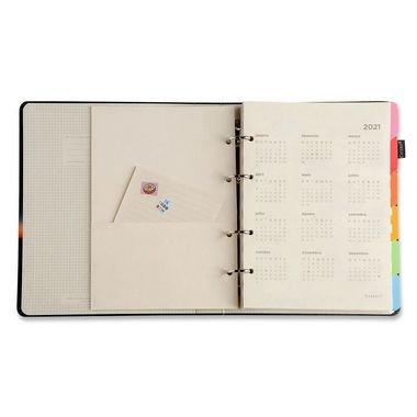 Caderno Criativo Argolado - Quadriculado Branco - Pautado - 17x24 - Cícero