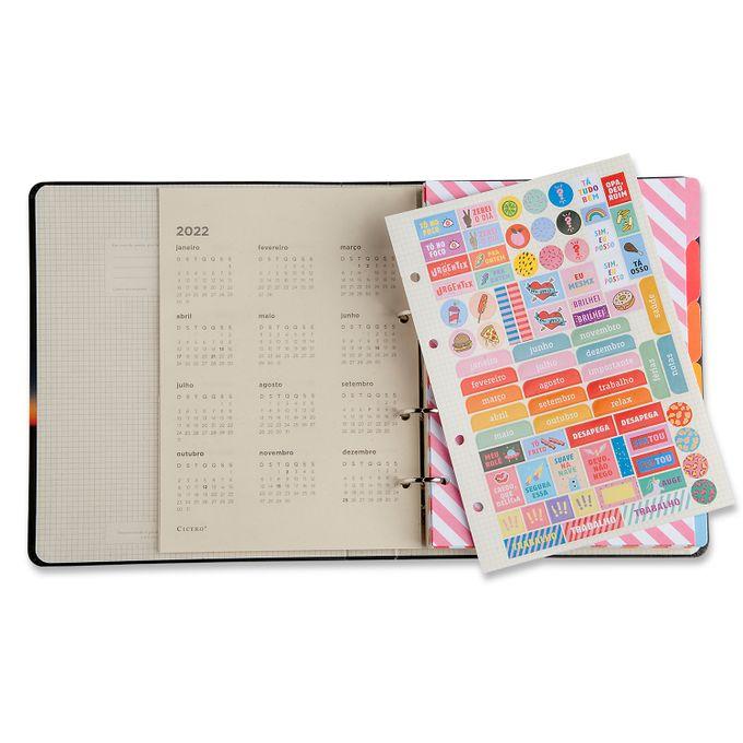 Caderno Criativo Argolado - Rosa Pastel - Pautado - 17x24 - Cícero