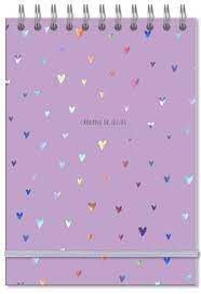 Caderno de Ideias - Fina Ideia - Corações Holográficos