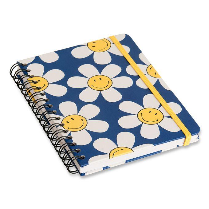Caderno Espiral Smiley A5 Pautado - Cícero - Margarida Azul
