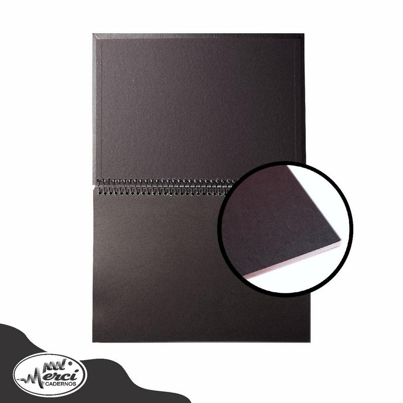 Caderno Faça Você Mesmo Merci A4 Preto 40 folhas