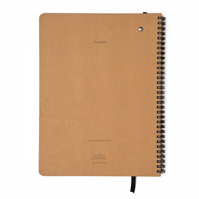 Caderno Pontado 21x28 - Cícero - Kraft