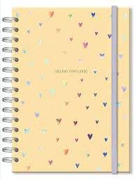 Caderno Pontilhado - Fina Ideia - Corações Holográficos