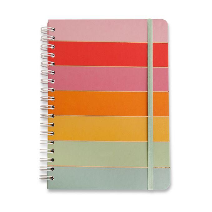 Caderno Wire-O Pautado 17x24 - Arco Íris