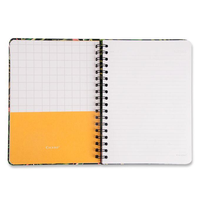 Caderno Wire-O Pautado 17x24 - Cícero - Onça Verde