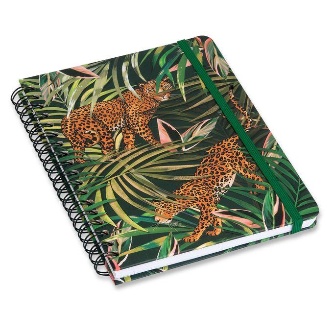Caderno Wire-O Pautado 17x24 - Onça Verde