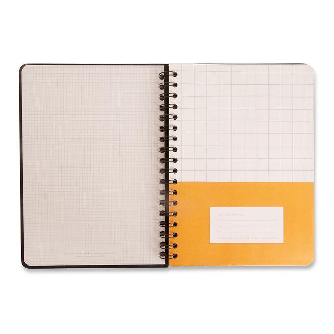 Caderno Wire-O Pautado 17x24 - Pantone Preto