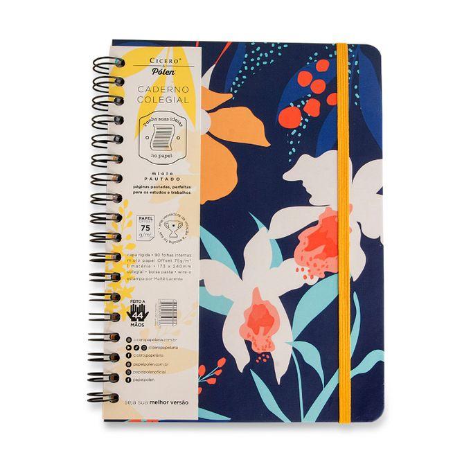 Caderno Wire-O Pautado 17x24 - Pólen Azul Marinho