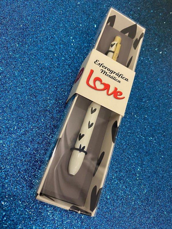 Caneta Esferográfica Metálica Love - Molin
