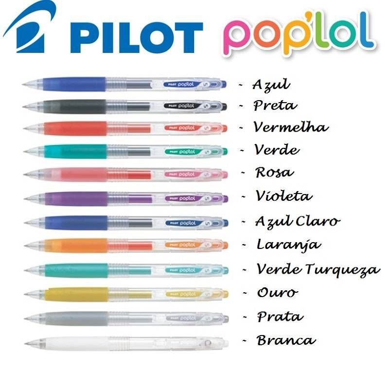 Caneta Gel Poplol Pilot Cores