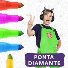 Caneta Hidrocor Perfumada Ponta Diamante Newpen estojo com 12 cores
