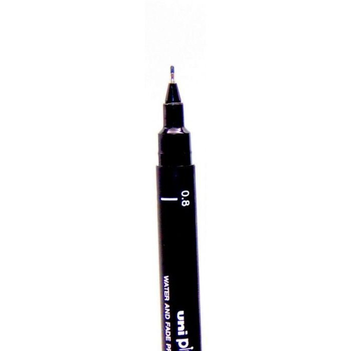 Caneta Nanquim Uni Pin 0.8 preta