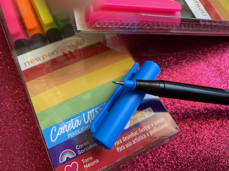 Caneta Ultrafine Pixel Fineliner - Estojo com 6 Cores Neon - Newpen