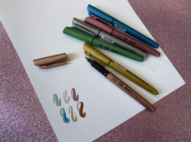 Cis Brush Metallic kit com 6 cores