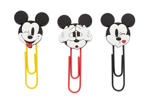 Clips 50 mm - Molin - Mickey Mouse - 3 unidades