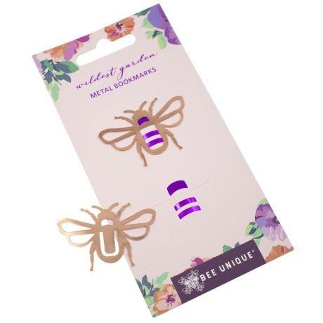 Clips de Metal Marcador de Página Abelha Bee Unique Rosé Gold