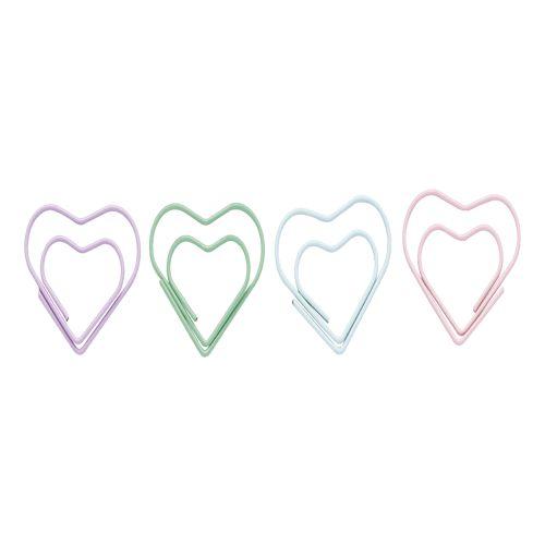 Clips - Molin Love - Coração Tons Pastel - 12 unidades