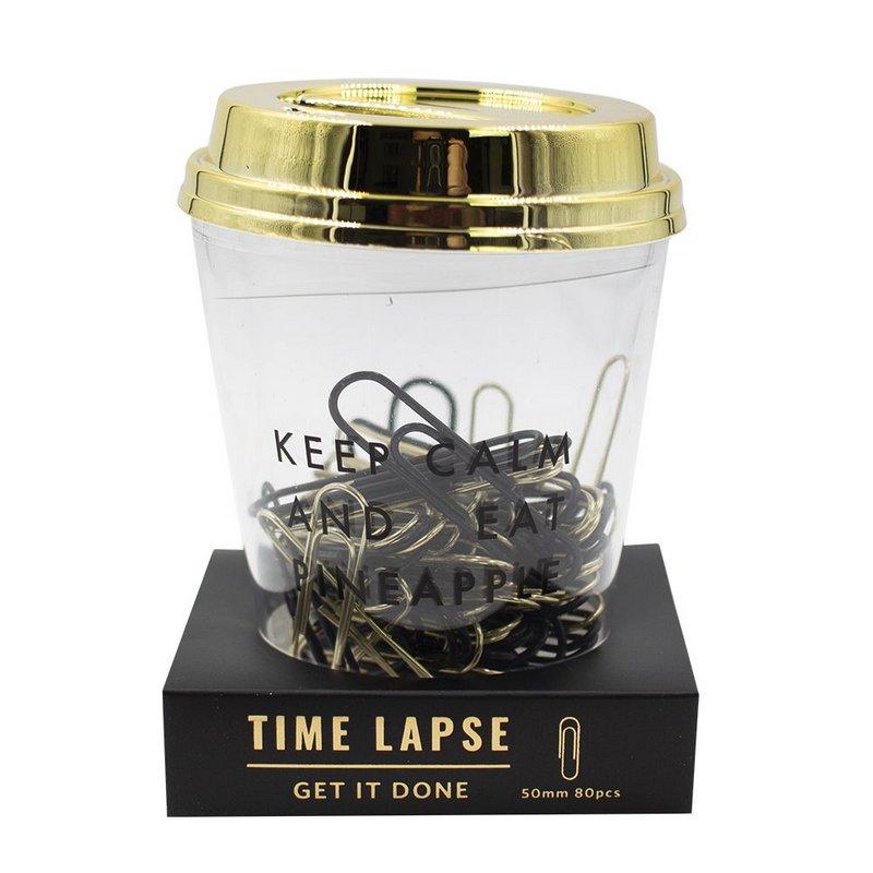 Copinho de Clips Bee Unique Coleção Time Lapse Preto e Dourado