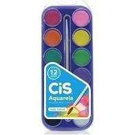 Estojo de Tintas - CIS - Aquarela 12 cores