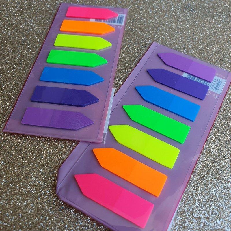 Flags adesivas neon - 7 cores